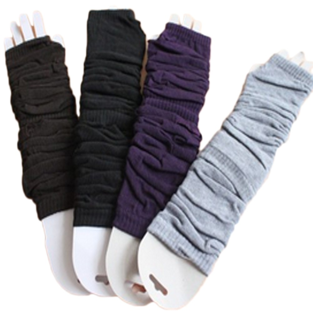 Ladies Winter Fingerless Gothic Arm Warmers Gloves