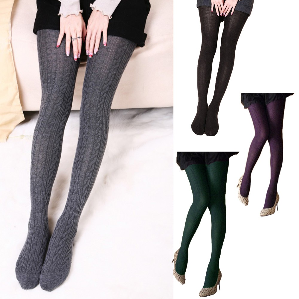 Opaque Pantyhose Warm Stockings AU Black/Brown/Dark Grey/Green/Grey/Purple