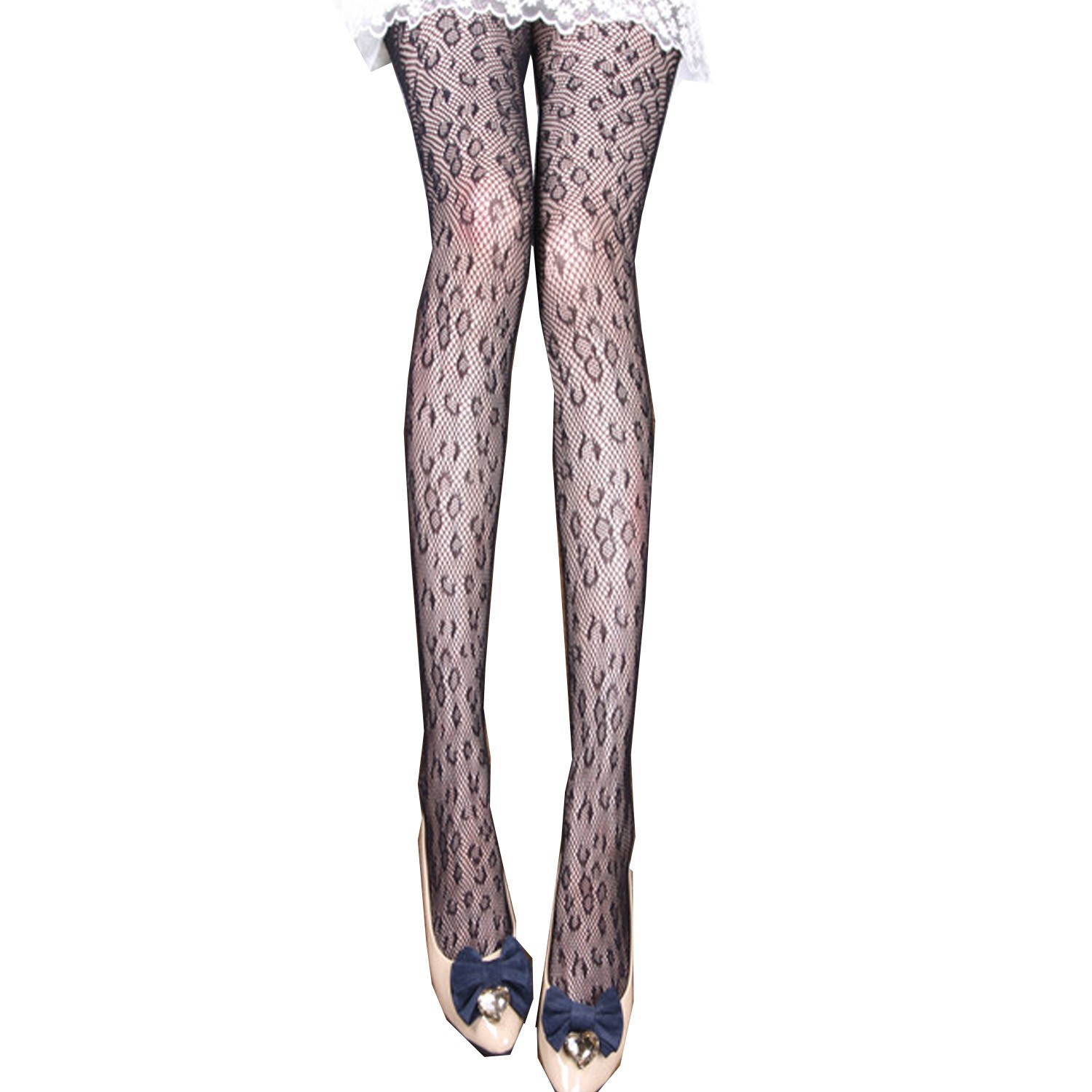 Leopard Skin Print Costume Pantyhose Fishnet Tight - 385#