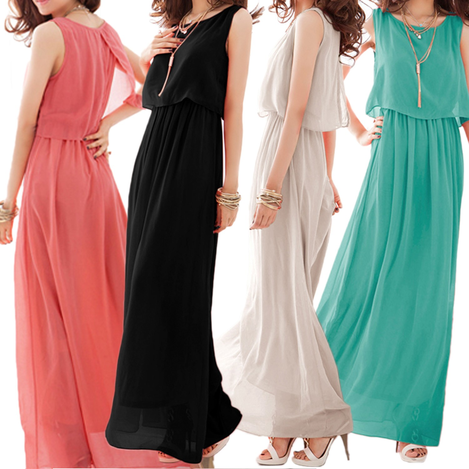 Cocktail Long Maxi Dress - 540#