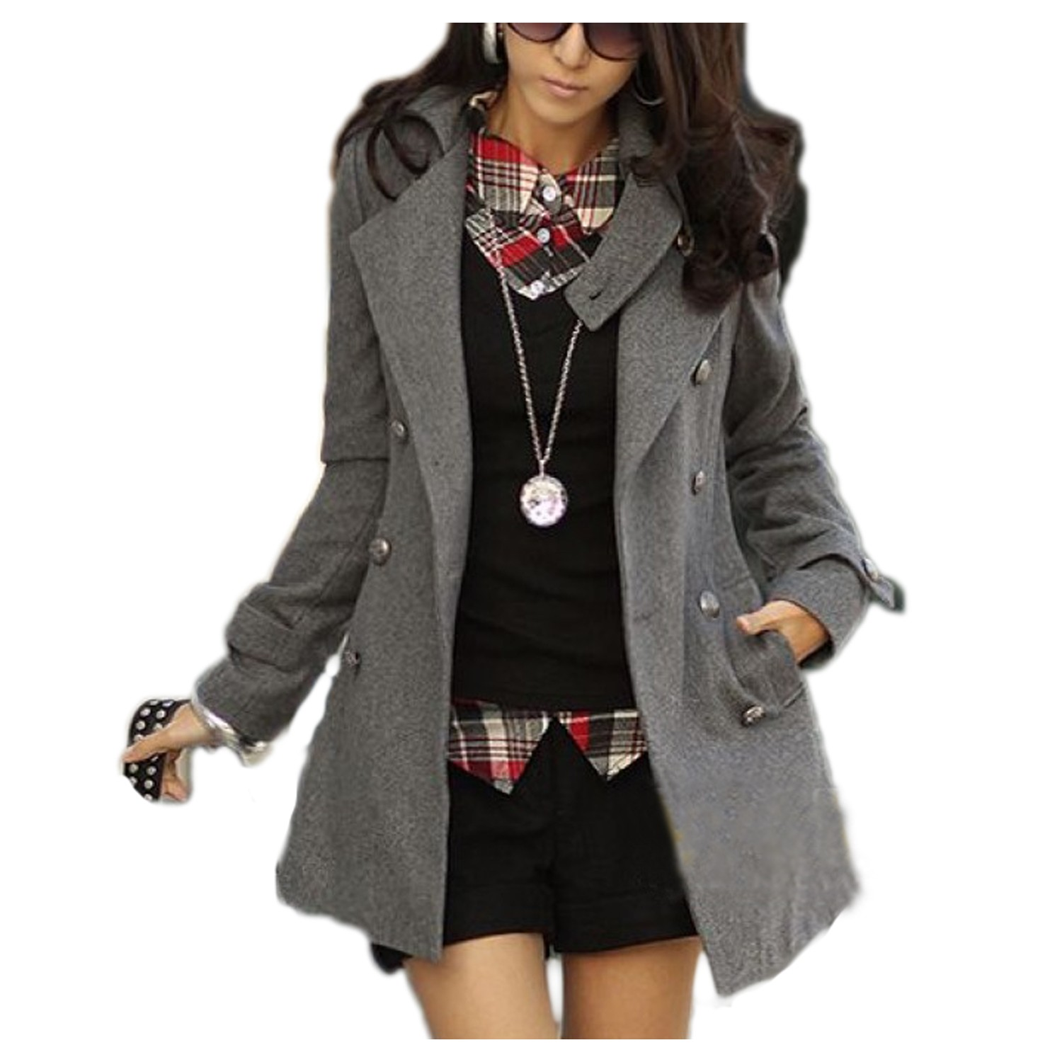 Military Double Trench Jacket Coat - 845#