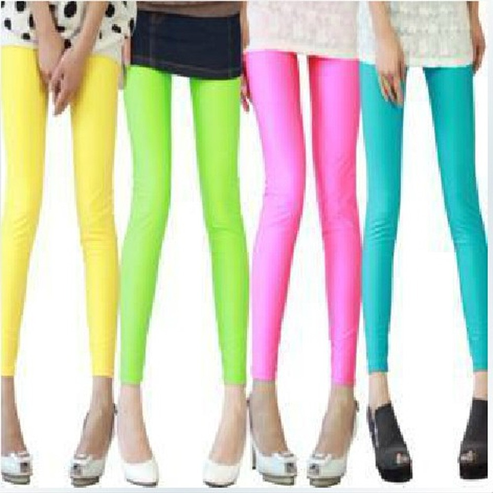 Shocking Color Footless Leggings Tights - 909#