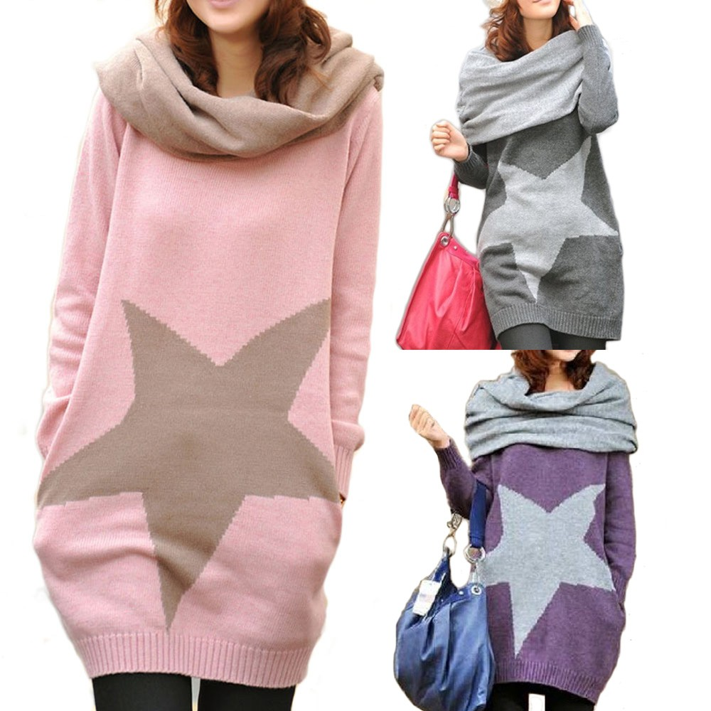 Grey/Pink/Purple Ladies Japan Womens NEW Top Star Sweater Jumper AU sz 8