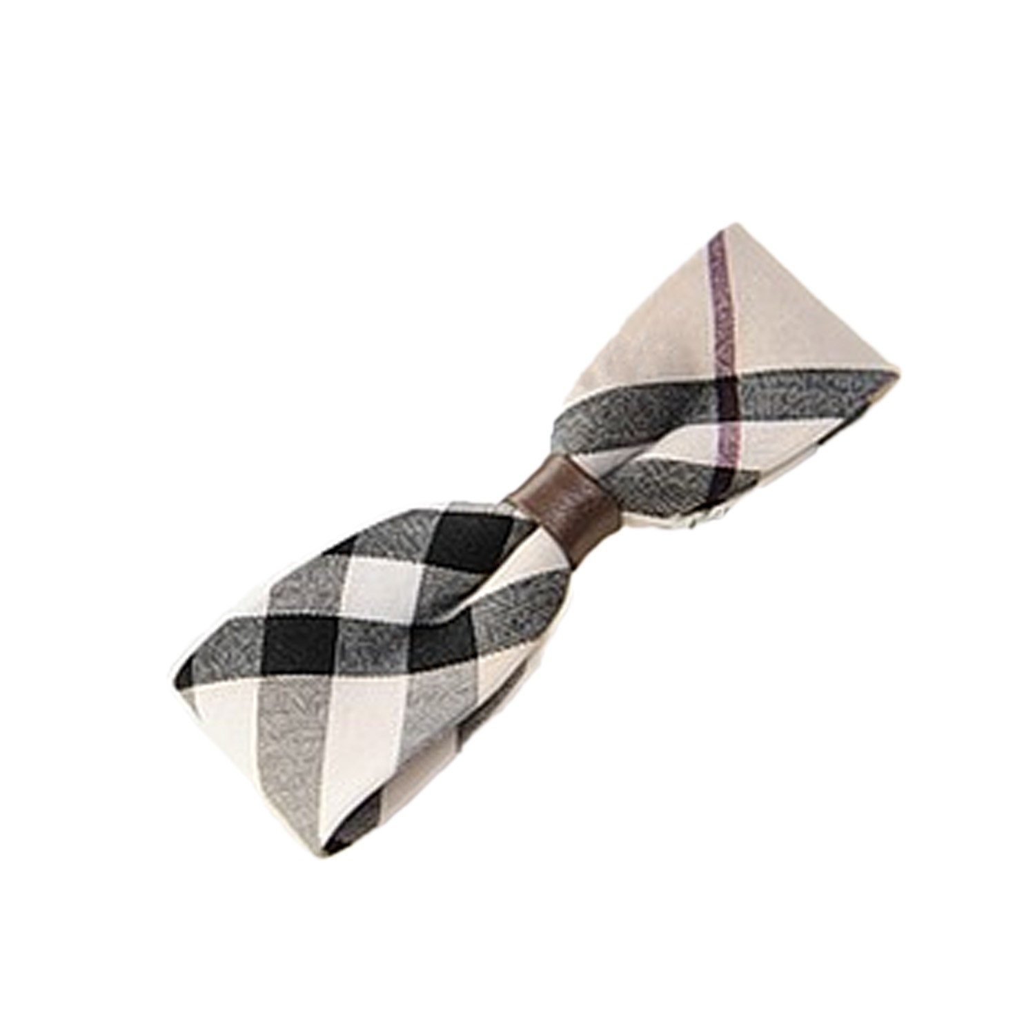 Beige Wedding NEW Vintage Accessories Girls Plaid Check Hair Clib Grip Clamp