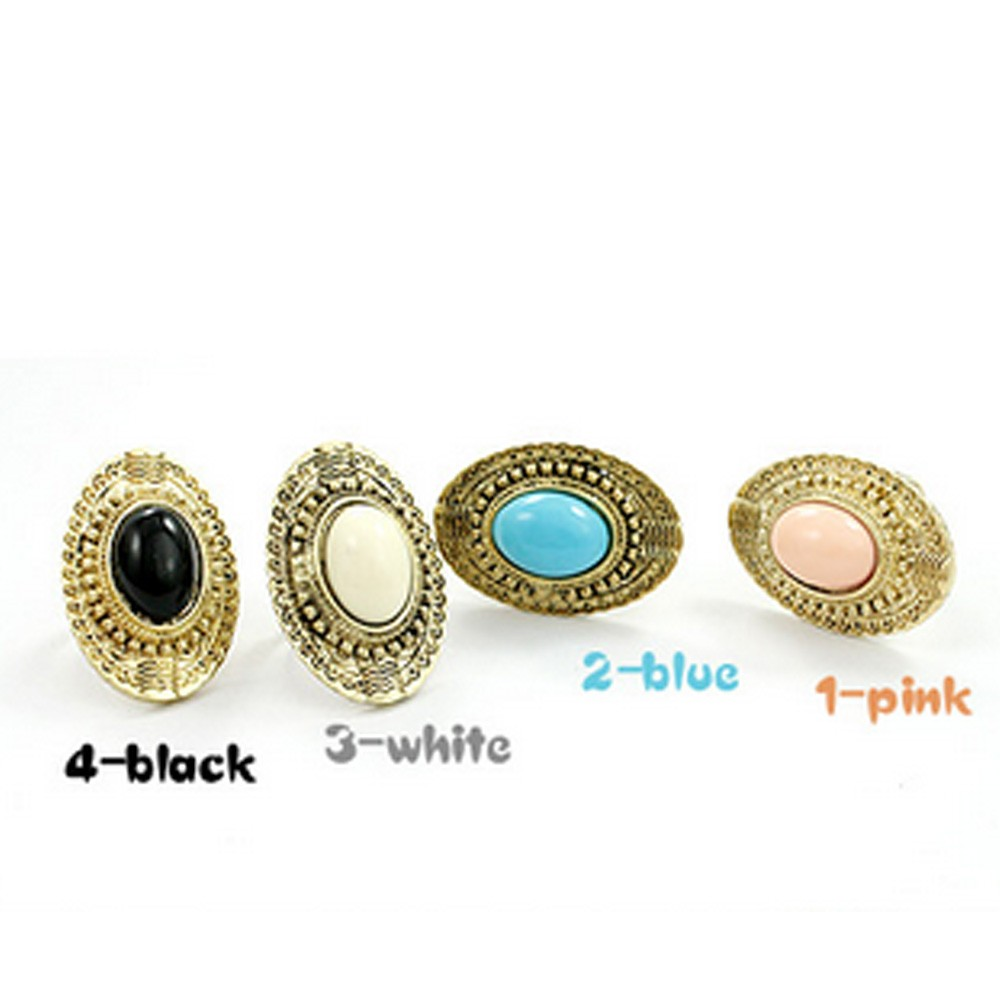 Gemstone Adjustable Ring - A044#