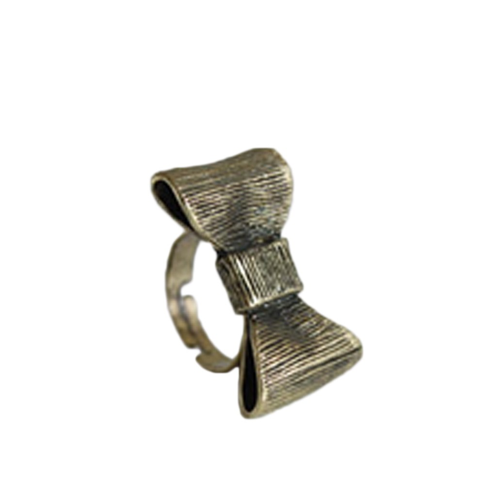 FREE SHIP TO AU Bronze Ladies Antiqued Cute New Womens Bow Bronze Ring