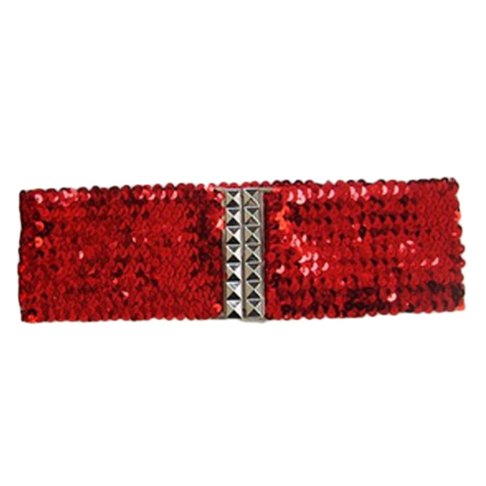 Sequin Wide Cinch Stretchy Belt - A190#