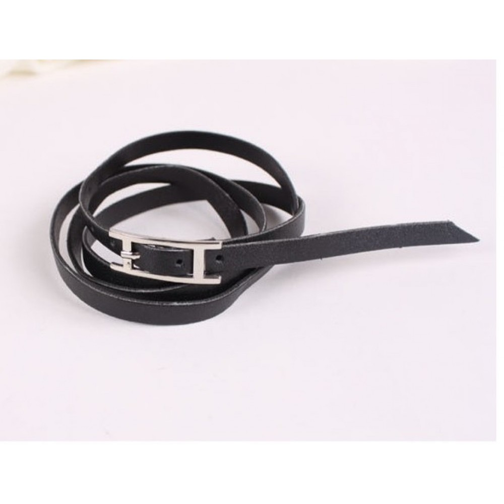 Black New Stylish Women Ladies Trendy Faux Leather Bracelet