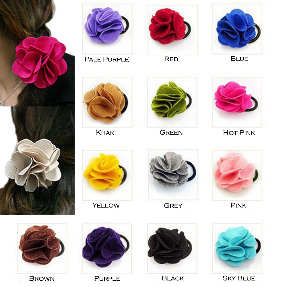 Flower Ponytail Hair Holder