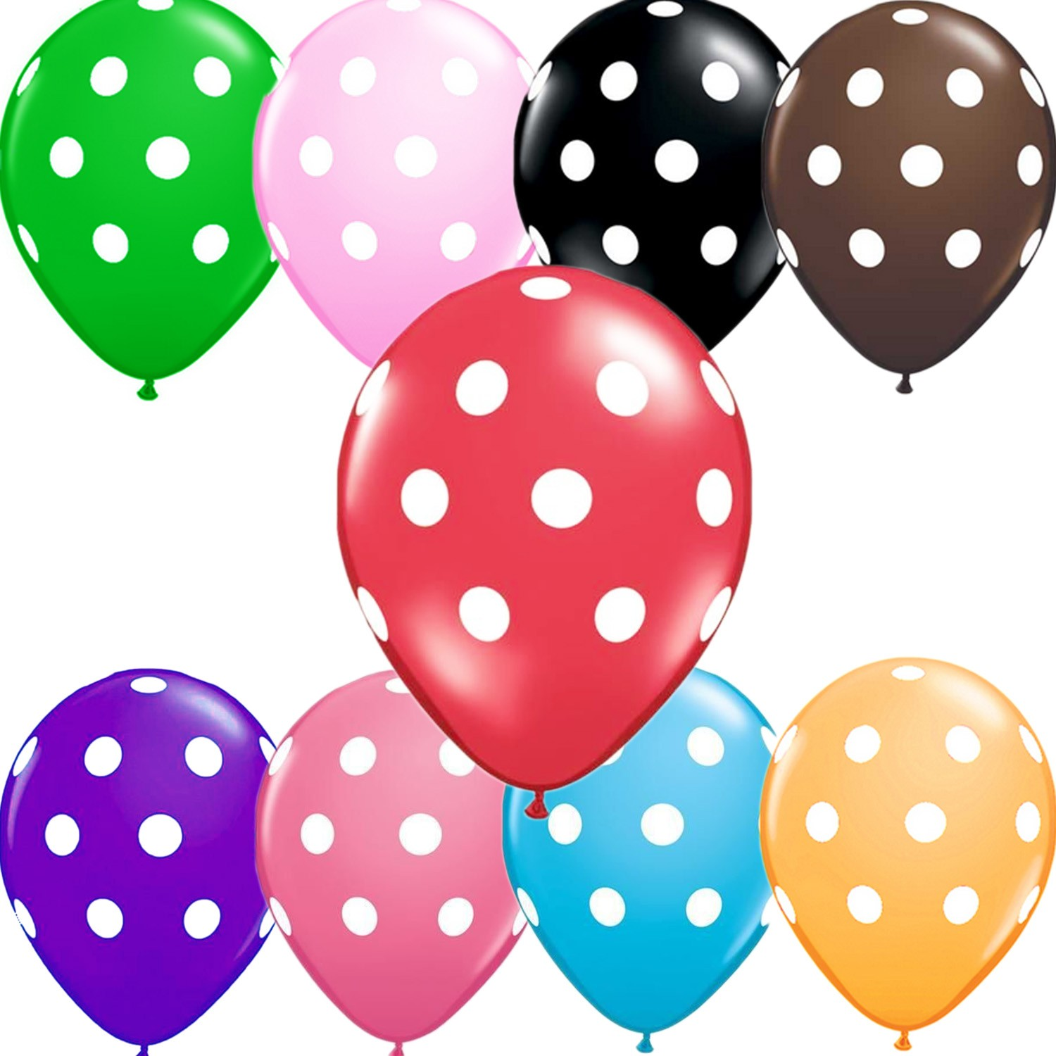 Polka Dot Party Balloons Bulk 12 inch