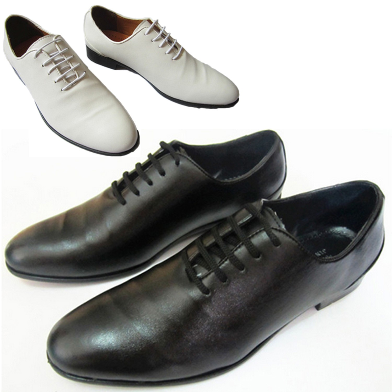 Faux Leather Classic Casual Flat Mens Lace Up Oxford Shoes
