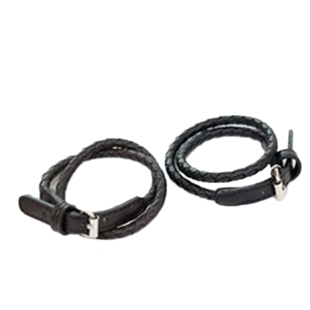 Black Mens Unisex NEW Stylish Woven Leather Bracelets Wristband