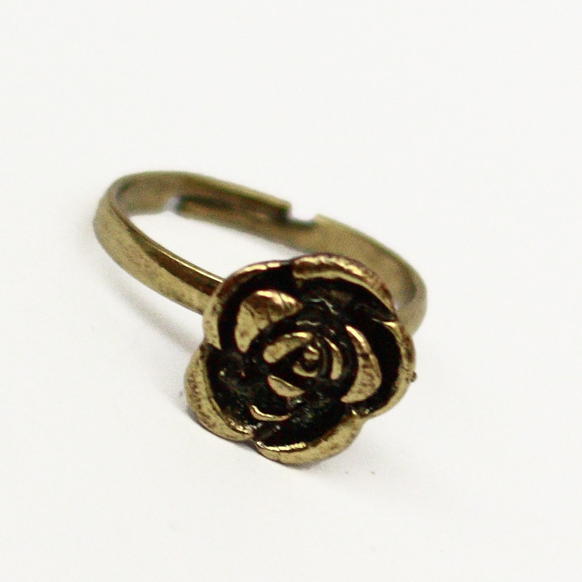 Bronze Antique Accessories NEW Old Designer Retro Rose Flower Adjustable Ring