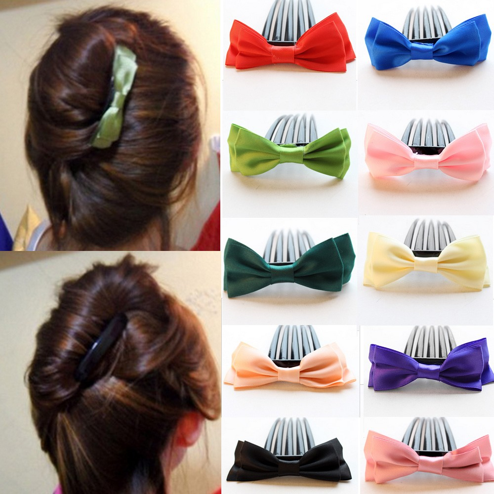Accessories Vintage Style Party Festival NEW Styling Bridal Bow Hair Comb