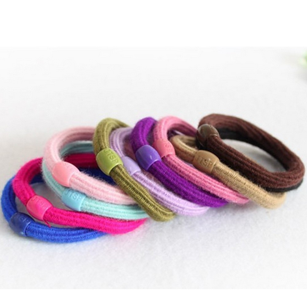 Womens Girls Ladies Lot X 10 Elastic Ponytail Holders Hair Ties Bulk