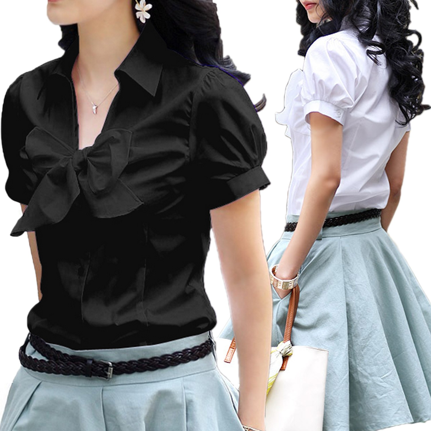 Work Bow Shirt - s81#
